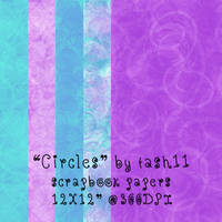 Circles Scrapbook papers by tash11