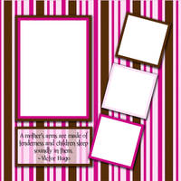 Raspberry baby scrapbook quickpage by tash11