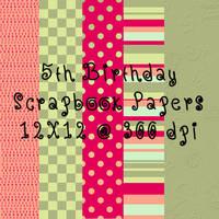 5th Birthday Scrapbook paper by tash11