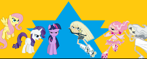 My Little Pony VS Milky Way And The Galaxy Girls by Tionimy