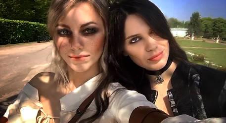 Ciri + Yenna by NatalieCartman