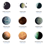 PNG Planets of Star Wars