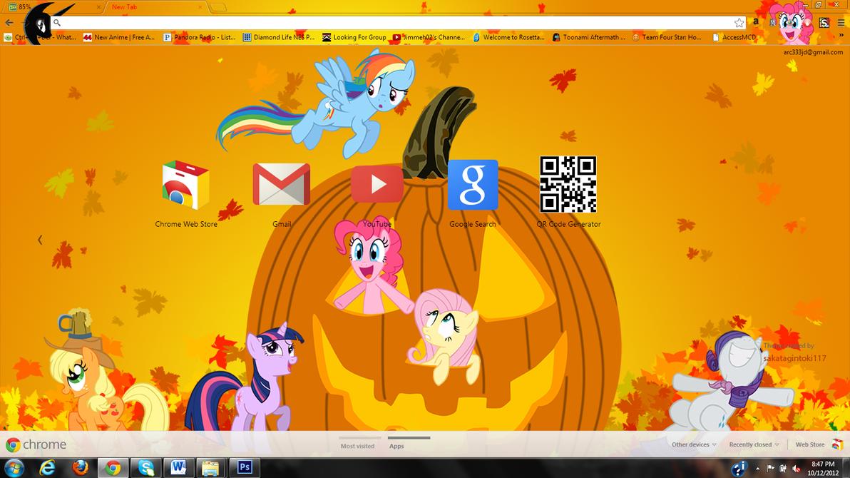 MLP Fall Google Chrome Theme by sakatagintoki117