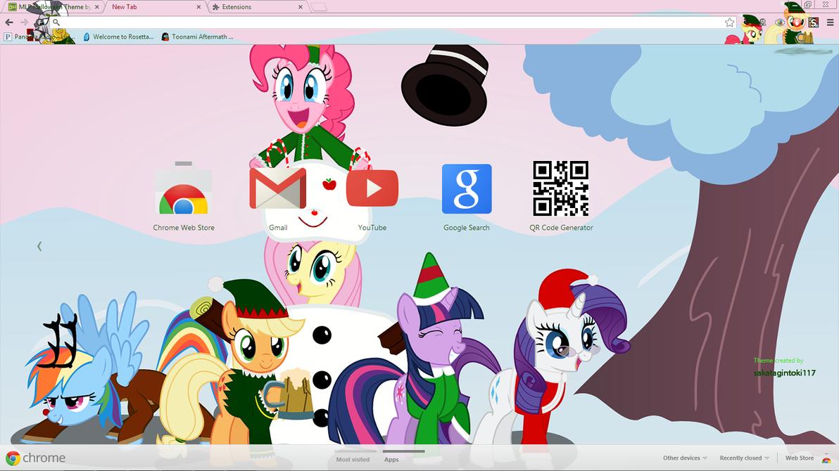 Gmail christmas theme - Mlp Christmas Theme By Sakatagintoki117