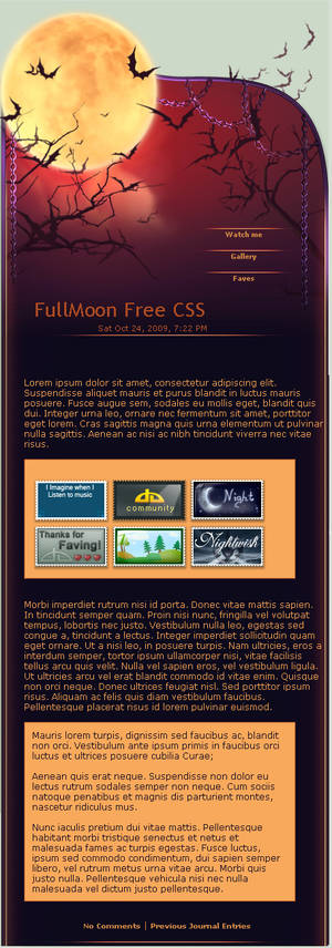 FullMoon Free Journal CSS