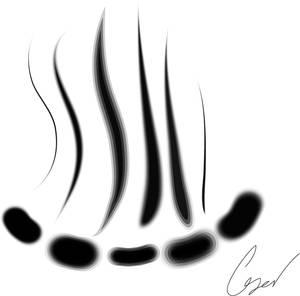 Brushes blurred