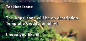 Superbar Text Icons