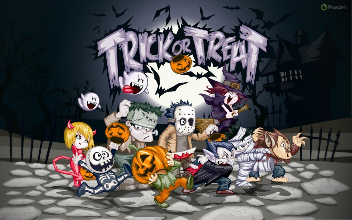 Free Halloween Wallpaper by Pixeden