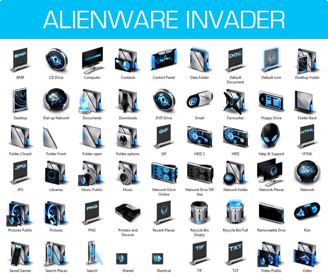 Alienware Invader Iconpack Installer for Windows 7