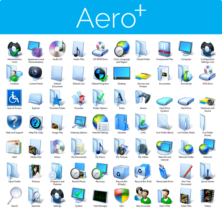 Aero+ Iconpack Installer for Windows 7 by UltimateDesktops ...