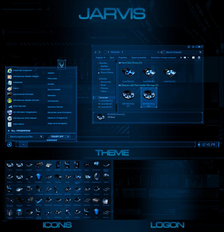 Jarvis - Windows 7 Transformation Pack by UltimateDesktops on DeviantArt