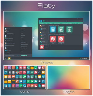 Flaty - Windows 7 Transformation Pack