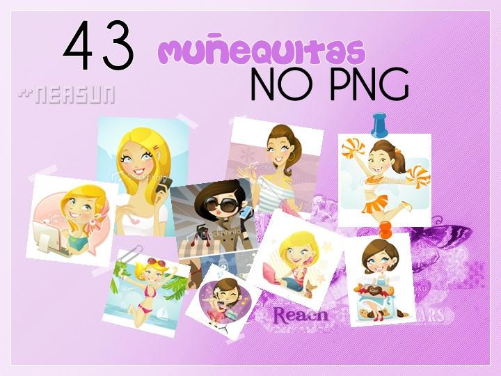 Pack Munequitas NO PNG by NeaSun