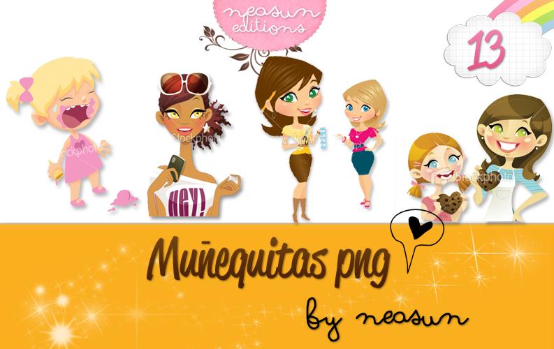 13 munequitas PNG by NeaSun