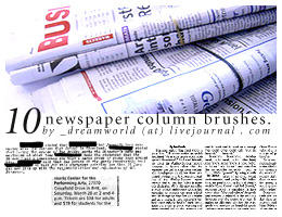 Newspaper Column Brush by nessis