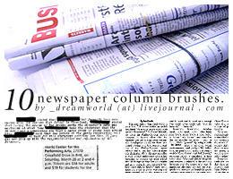 Newspaper Column Brush