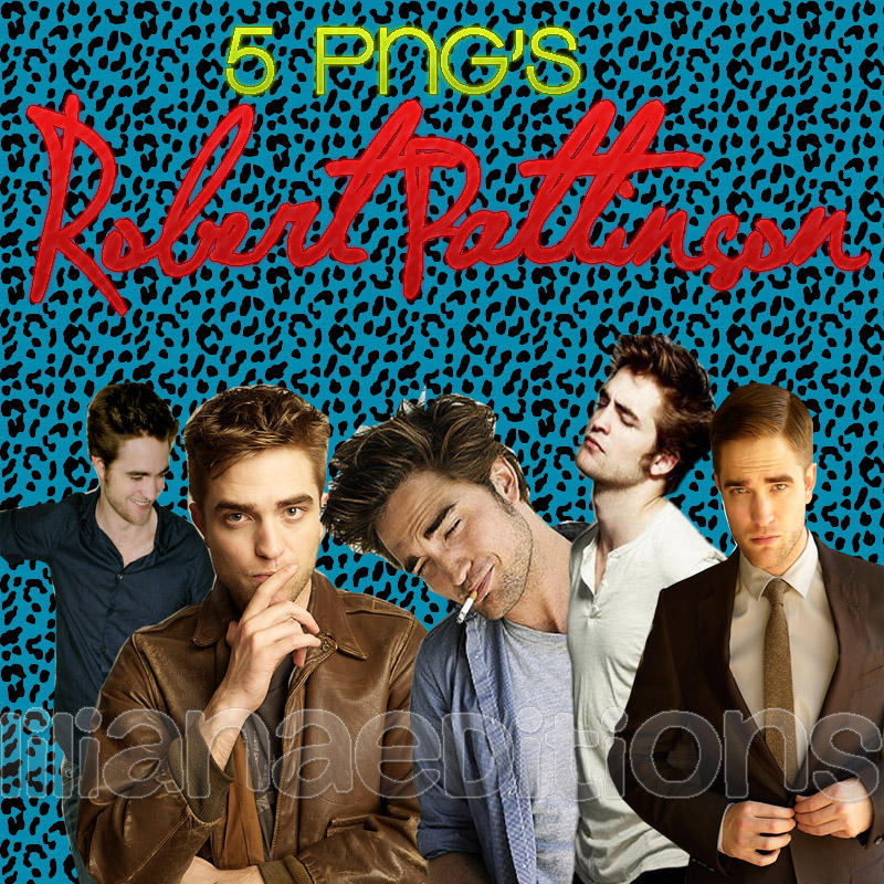 PNG'S Robert Pattinson by LilianaaEditions27