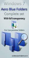 Windows 7 aero Blue folder set by AbhishekGhosh