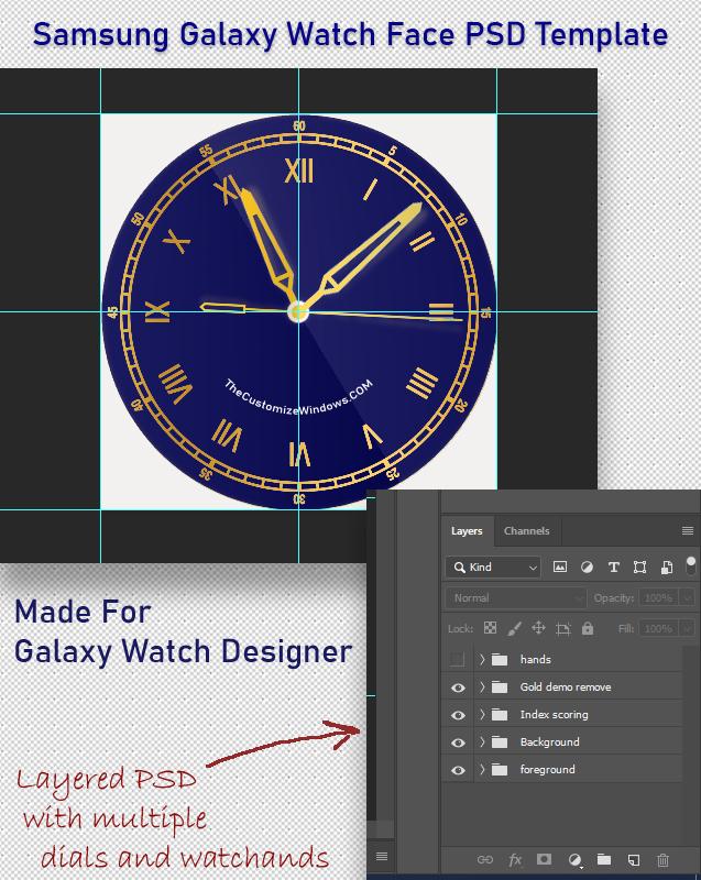 Samsung Galaxy Watch PSD Template
