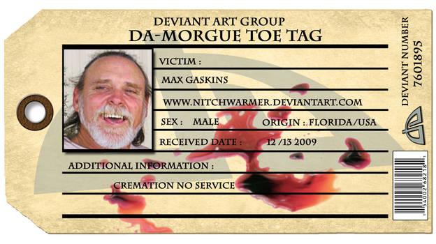 dA-Morgue toe tag by nitchwarmer
