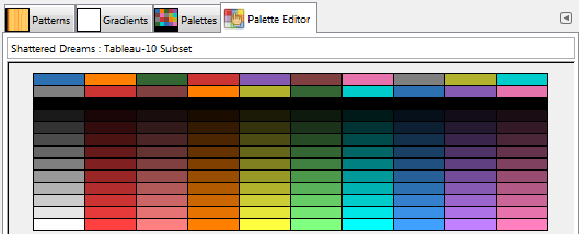 Shattered Dreams Palette - Tableau 10 Subset by copb-phoenix