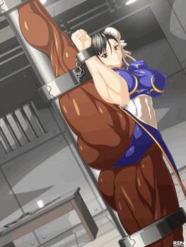 Chun li's strong Thigh power!