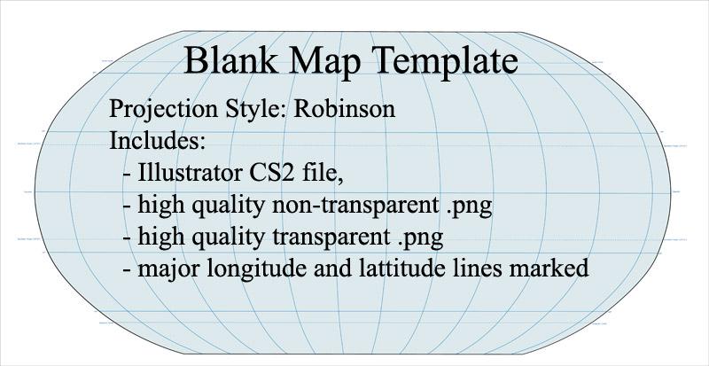 Blank World Map (Robinson Projection)