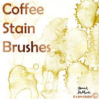 Coffee Stain Brushes by edhollander