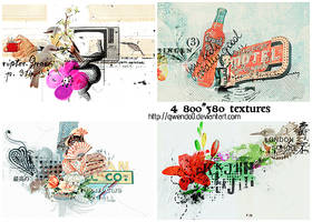 4 LARGE Textures Pack 2 by gwendo0
