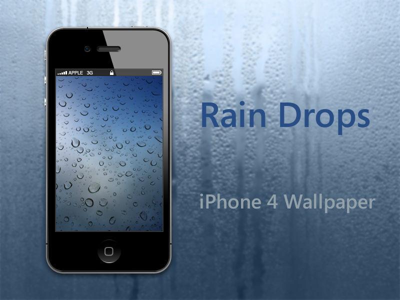 Rain Drops Iphone 4 Wallpaper By Biggzyn80 On Deviantart