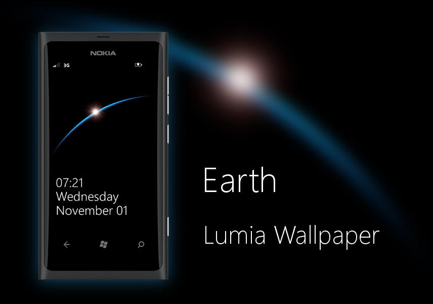 Love Wallpaper For Nokia 220 : Earth Minimal Nokia Lumia WP7 Wallpaper by biggzyn80 on DeviantArt
