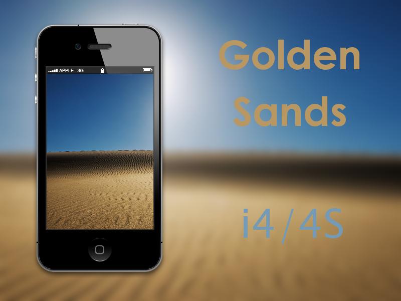 Golden Sands Retina iPhone Wallpaper by biggzyn80