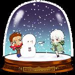SNOW GLOBE_Beblue