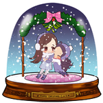SNOWGLOBE(Mistletoe)_Milliemunchers 1/3