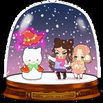 SNOWGLOBE(Snowman)_Milliemunchers 3/3