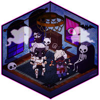 HALLOWEEN-MANSION-Chiickadee 2/3 by d-clua