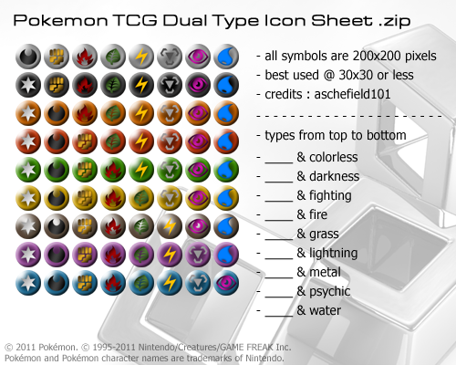Pokemon tcg dual type icons by aschefield101 on deviantart