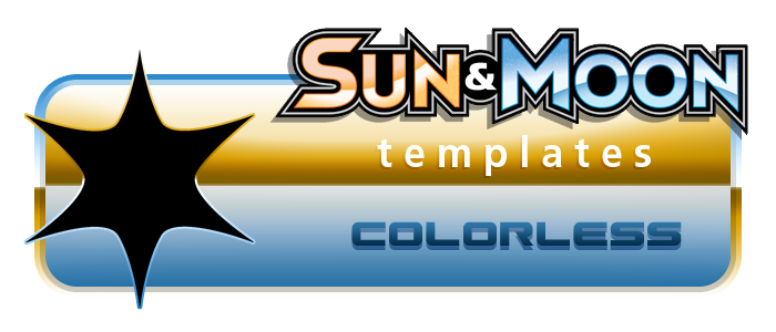 Pokemon SM Templates - Colorless by aschefield101