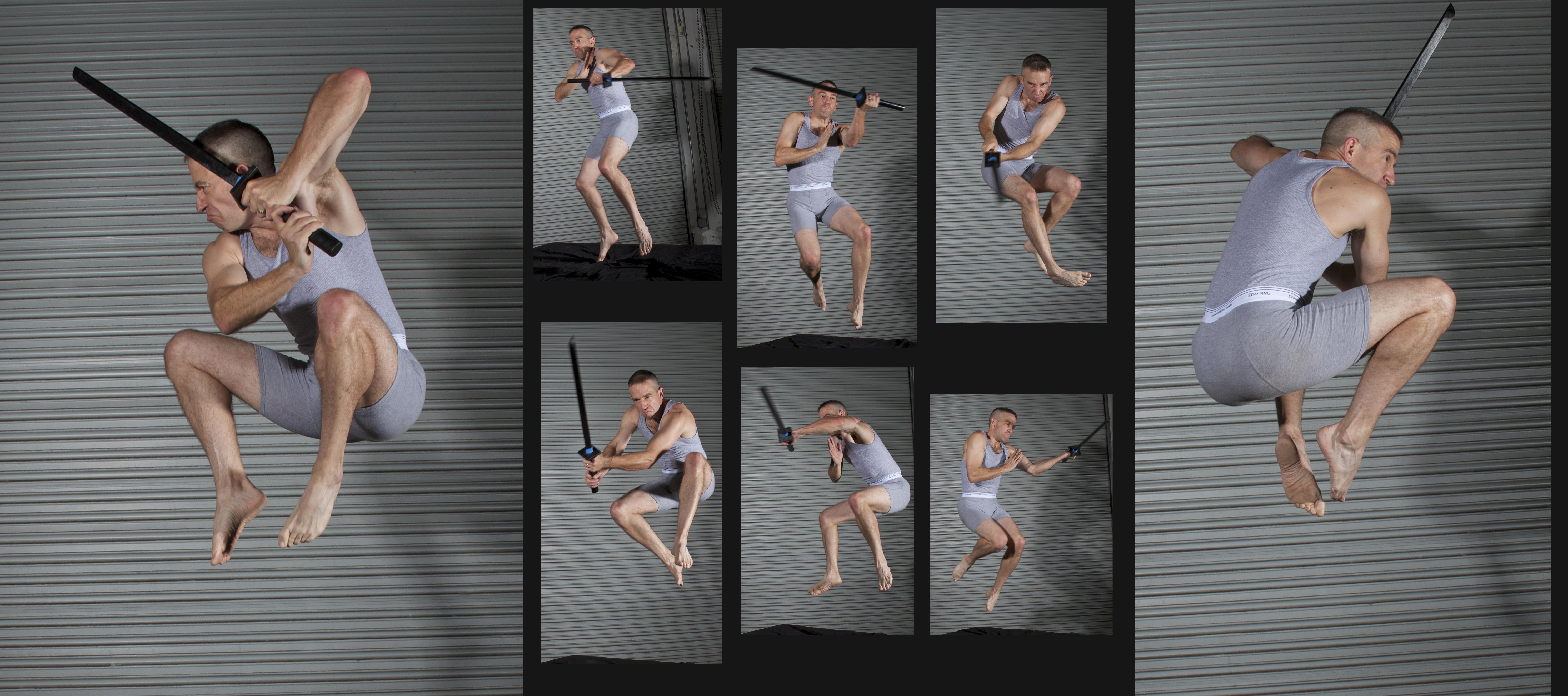 Moonlight Jade Air Blade Assault - Pose Reference by SenshiStock