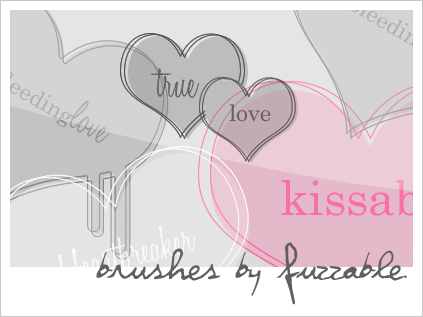 Brushes - hearts by msLana