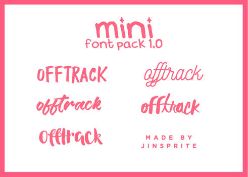 Font Pack 1.0 By Jinsprite