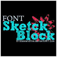 Font Sketch Block C: by DemiandJoe
