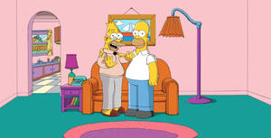 Homer and Abe Simpson
