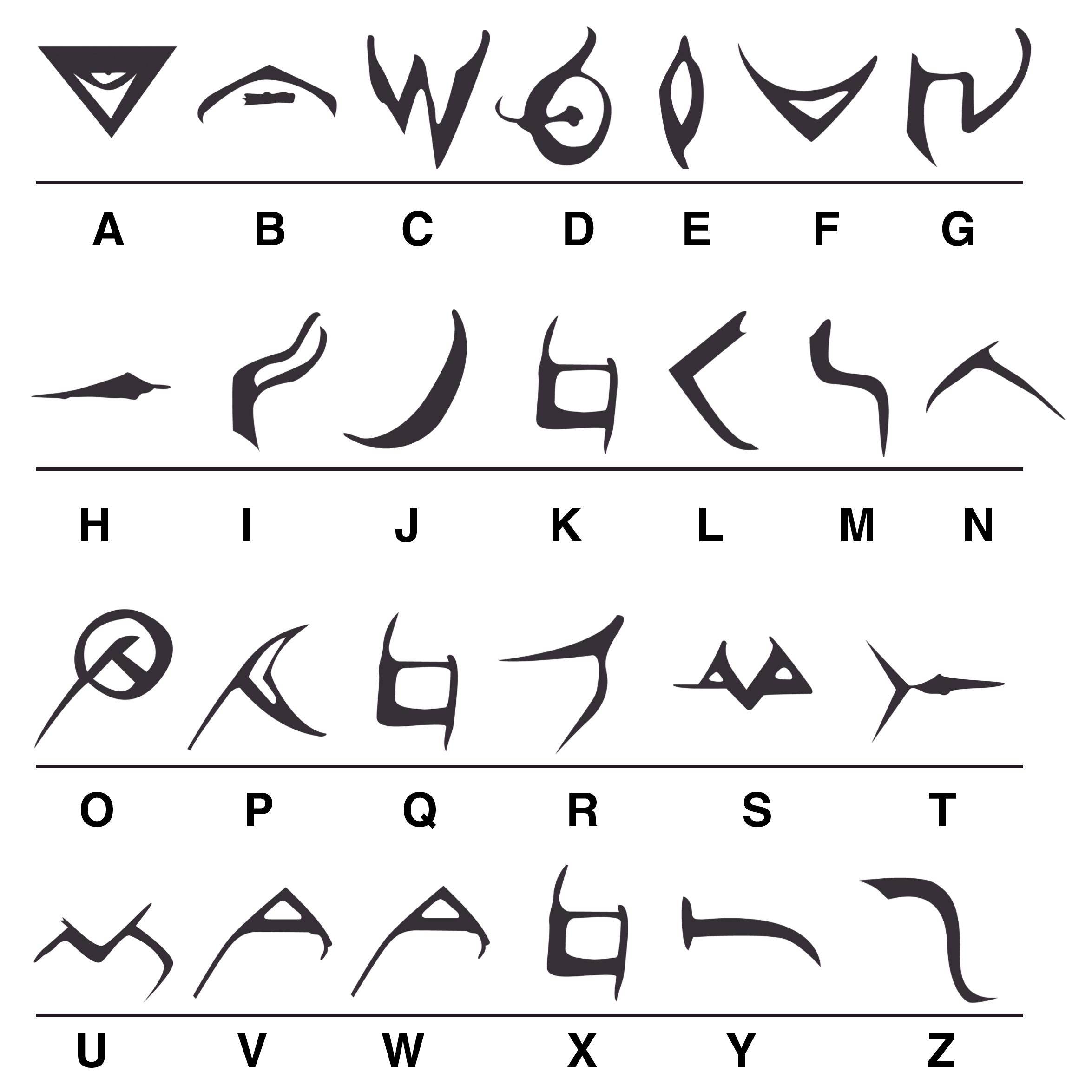 Shadowlanguage font by Tussa