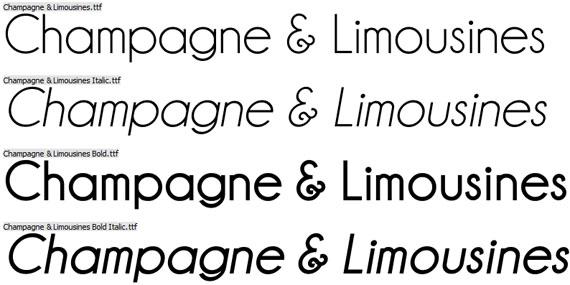champagne et limousine font