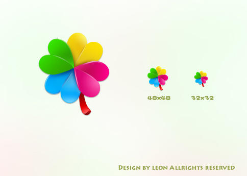rainbow flower by leon-gao