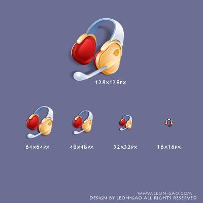 headphone icon by leon-gao