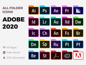 Adobe Folder Icons Pack 2020 | Download SVG PNG