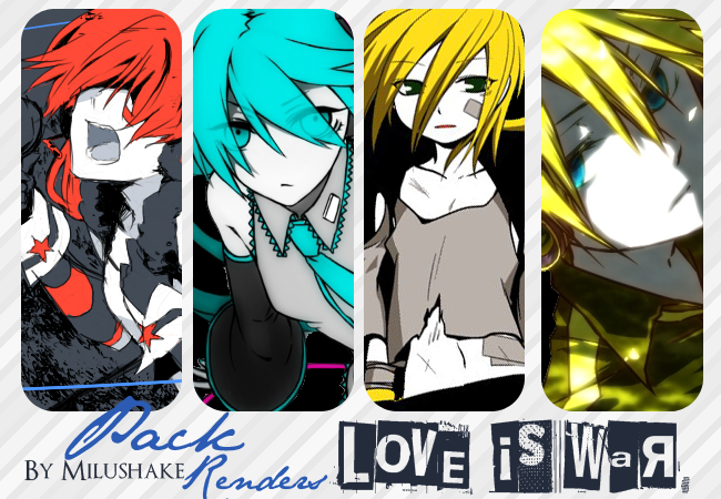 Pack de Renders {Love is War} by Milushake