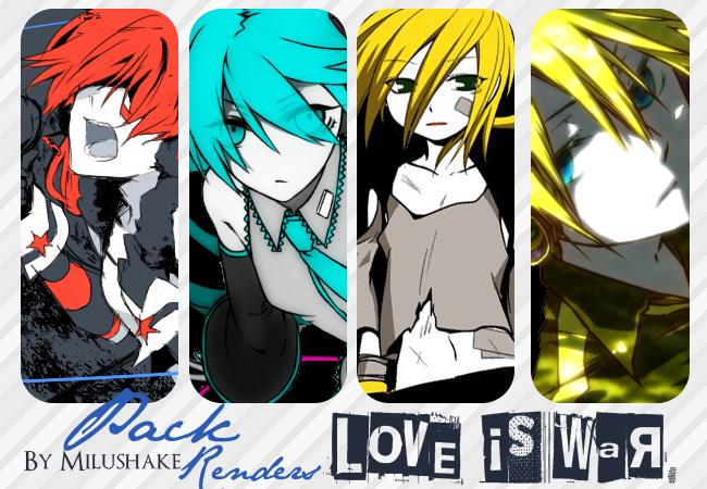 Pack de Renders {Love is War} by Milushake